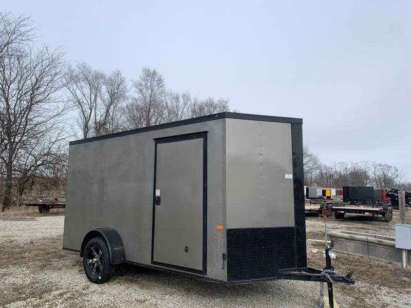 2021 ROCK SOLID 6 X 12 X 6'3 ENCLOSED CARGO TRAILER W/ BLACK TRIM