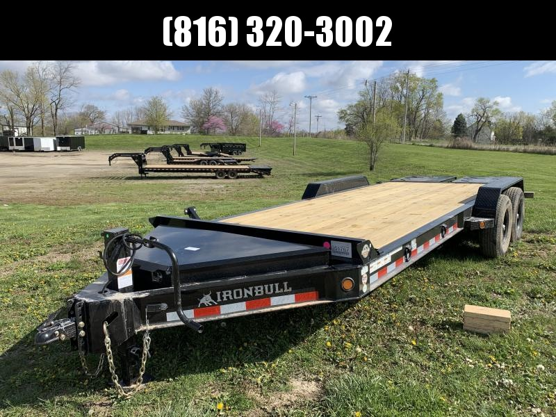 2021 IRON BULL 83X20 EQUIPMENT HAULER TRAILER W/ I-BEAM FRAME