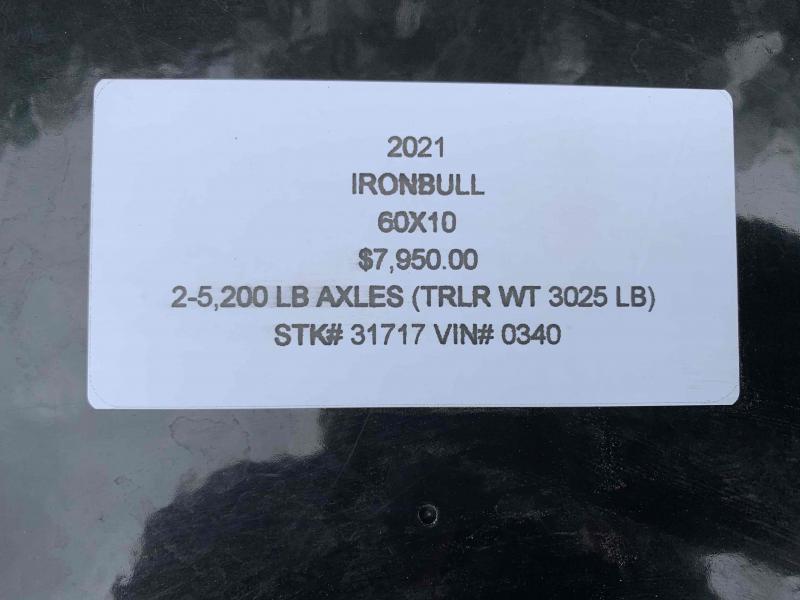 2021 IRON BULL 60X10 MINI DUMP TRAILER W/ 52K AXLES