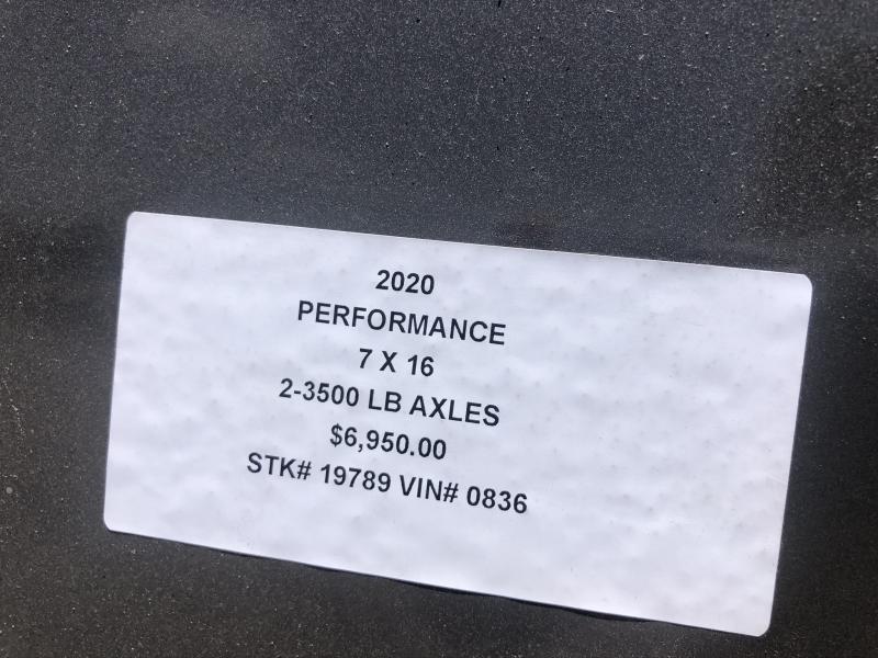 2020 PERFORMANCE 7 X 16 X 6.5 ENCLOSED CARGO TRAILER
