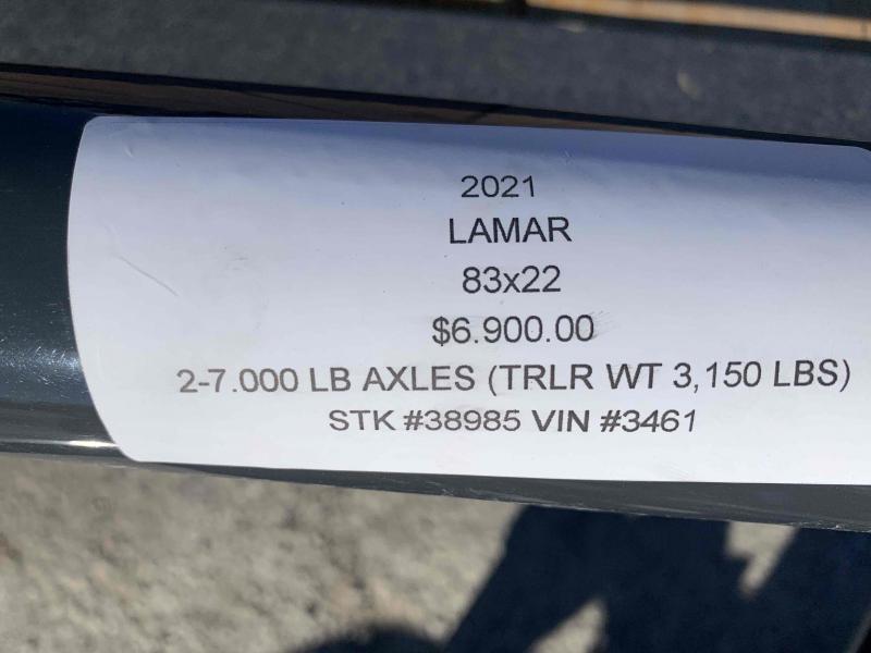 2021 LAMAR 83X22 EQUIPMENT TRAILER W/7K AXLES