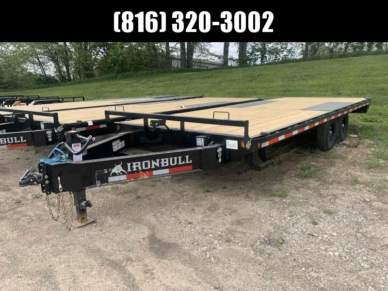 2021 IRON BULL 102X22 DECKOVER PINTLE EQUIPMENT HAULER TRAILER