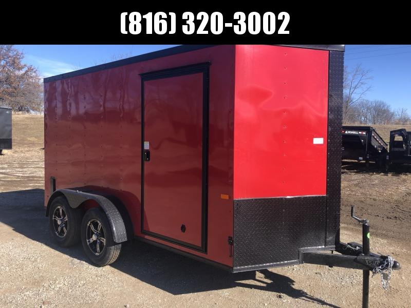 "2021 ROCK SOLID 6 X 12 X 6'3"" ENCLOSED CARGO TRAILER WITH BLACK TRIM PACKAGE"
