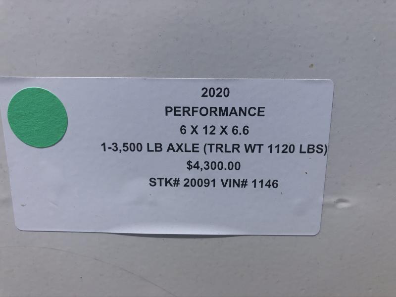 2020 PERFORMANCE 6 X 12 X 6.5 ENCLOSED CARGO TRAILER