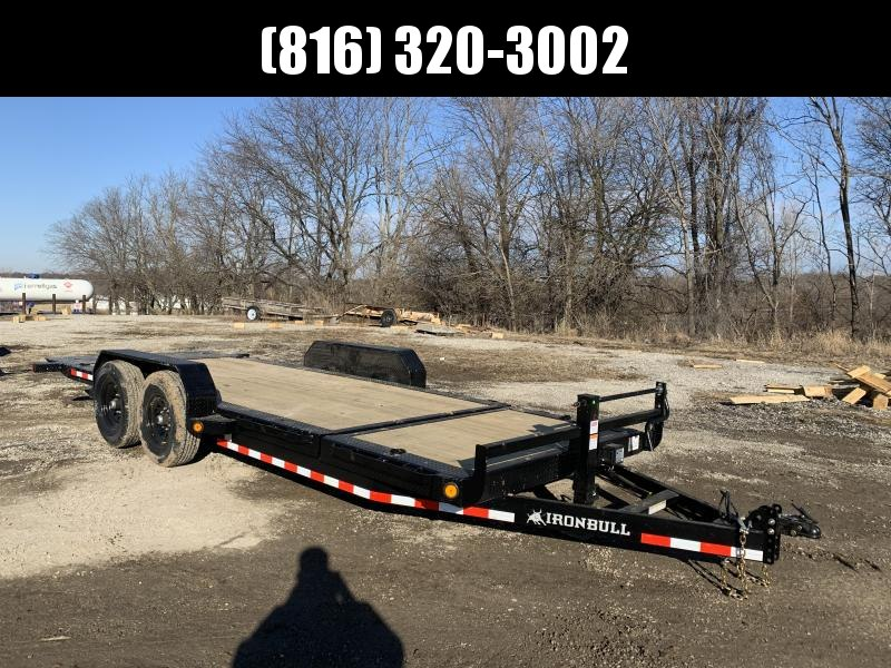 2021 IRON BULL 83X20 TILT LOPRO EQUIPMENT HAULER TRAILER