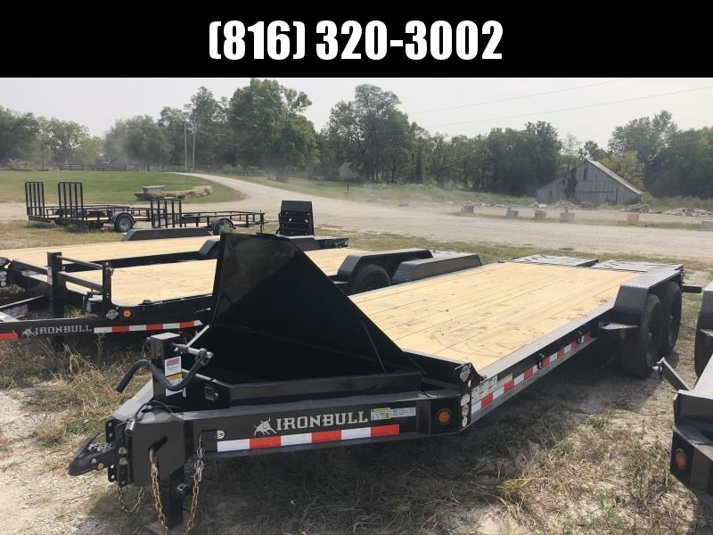 2021 IRON BULL 83X20 EQUIPMENT HAULER TRAILER WITH HEAVY DUTY I-BEAM FRAME