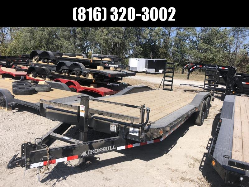 2021 IRON BULL 102x24 EQUIPMENT TRAILER W/ DRIVE OVER FENDERS