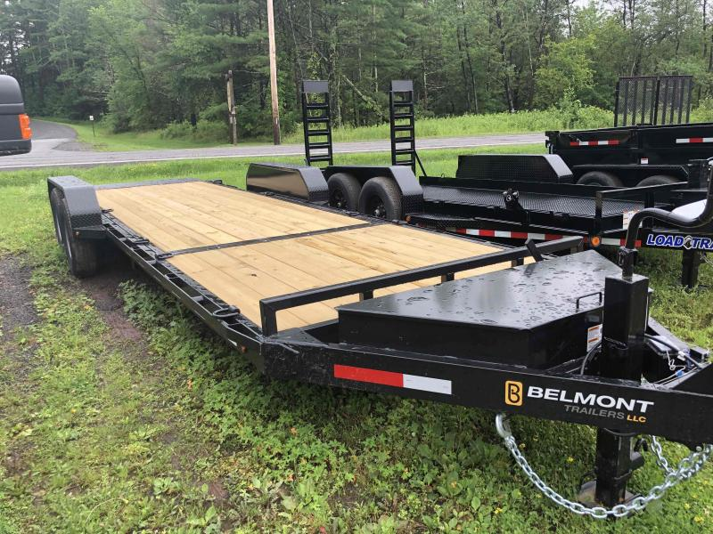 "2021 Belmont Machine 7 Ton SSTD24-14 Deck Between The Wheels Equipment Trailer 81"" Usable Between The Fenders. 18' Tilting + 6' Stationary."