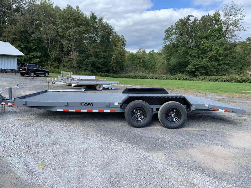 2022 Cam Superline 5 Ton Car Hauler Trailer 20FT Steel Deck   ( Special Edition ) Gray Trailer with Black Removable Fenders   WOW!!!