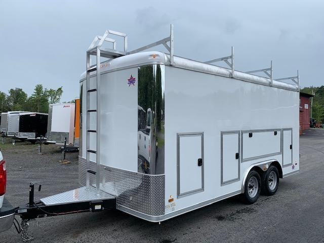 2022 US Cargo TSPP8516TA3 Enclosed Deluxe Contractor Trailer With Tool Crib Package