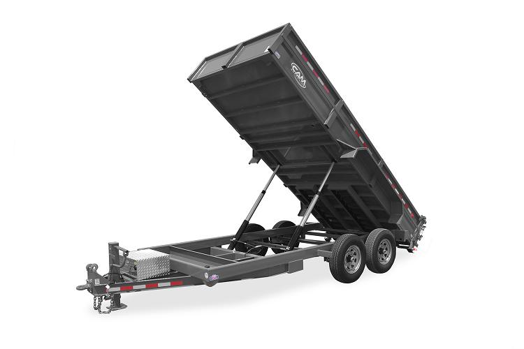 """2021 Cam Superline 6 Ton Low Profile Heavy Duty Dump Trailer 81"""" x 12'"""