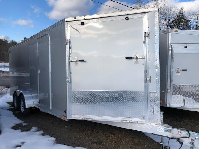 2019 Lightning Trailers 7 x 18 3 Place Enclosed Snowmobile Trailer