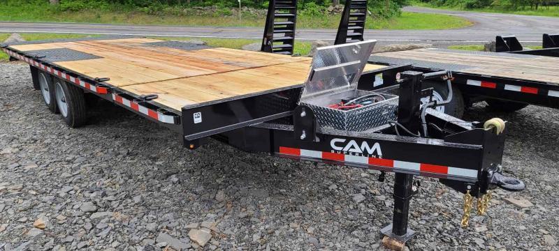 2021 Cam Superline 8 Ton Deckover Split Tilt Trailer Power up + Down. 24' Overall 20' Tilting + 4' Stationary Deck.