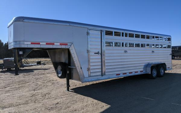 2020 Kiefer Stockman 7' x 24' Stock Trailer