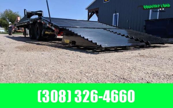 Big Tex 22GN 8.5 x 20+5 Flatbed Trailer w/ Mega Ramps