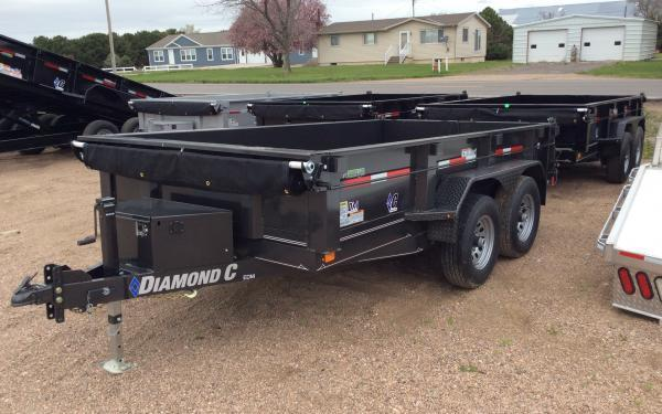 "2020 Diamond C EDM 77"" x 12' Dump Trailer"