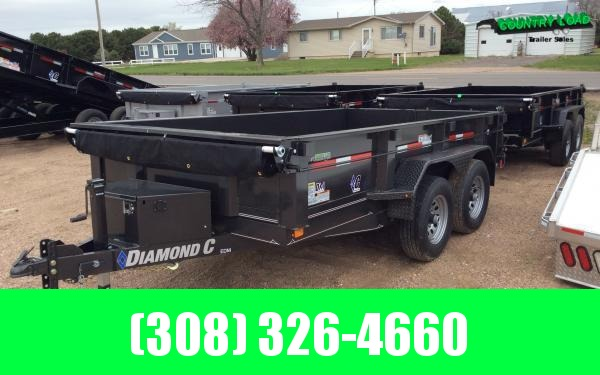 "Diamond C EDM 77"" x 12' Dump Trailer"