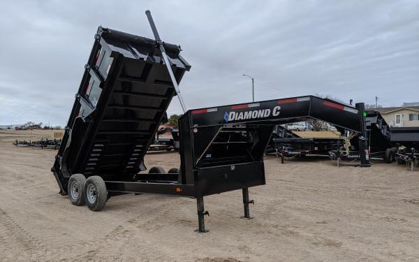 """2020 Diamond C LPT 82"""" x 14' Gooseneck Dump Trailer"""