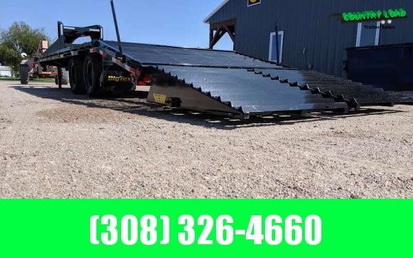 2021 Big Tex 22GN 8.5 x 25+5 Flatbed Trailer w/ Mega Ramps
