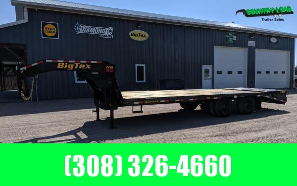2021 Big Tex 22GN 8.5 x 25+5 Flatbed Trailer w/ Mega Ramps