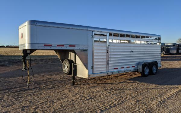 "2020 Kiefer Kruiser 6'8"" x 20' Stock Trailer"