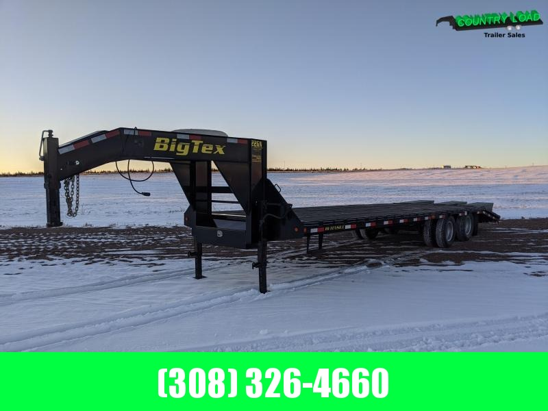 2012 Big Tex Trailers 22GN 28+5 Flatbed Trailer