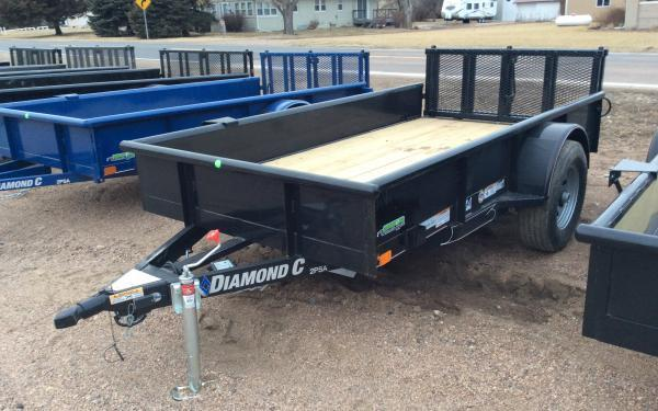 "2020 Diamond C 2PSA 60"" x 10' 5K Utility Trailer w/ Bi-fold Ramp Gate"