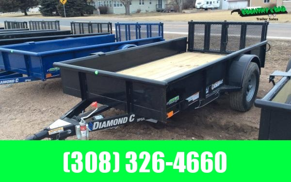 "Diamond C 60"" x 10' 5K Utility Trailer w/ Bi-fold Ramp Gate"