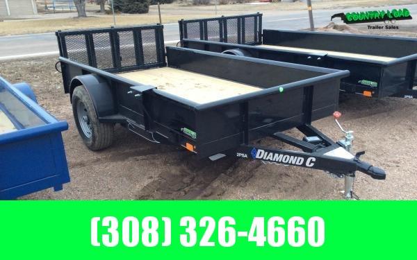 "Diamond C 60"" x 10' 5K Utility Trailer w/ Bi-fold Ramp Gate"