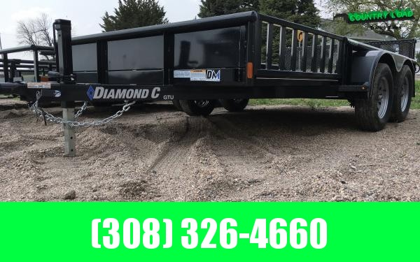 "Diamond C GTU 83"" x 16' Utility Trailer"