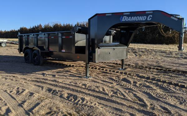 2020 Diamond C LPT Gooseneck Dump Trailer with NEW Engineered I-Beam