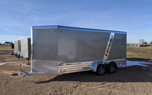 2021 Legend Deluxe 7 x 19 Aluminum V-Nose Enclosed Cargo Trailer