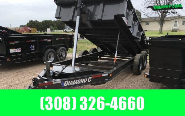 "Diamond C LPT 82"" x 14' Dump Trailer"