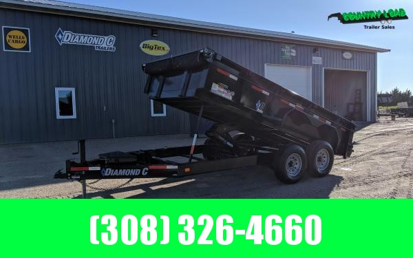 2020 Diamond C LPD 14' Dump Trailer