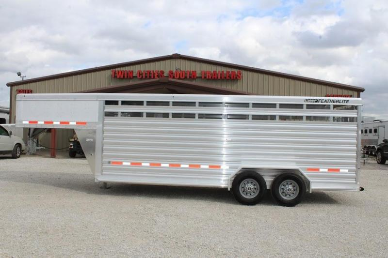 2020 Featherlite 20' Stock Trailer