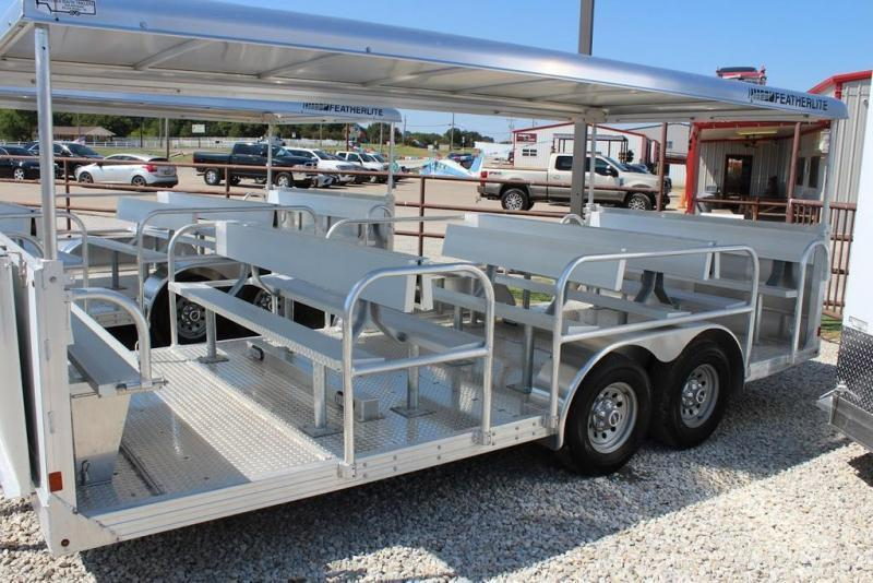 2021 Featherlite 8x17 Tram Trailer