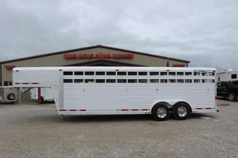2004 C and C Trailers Stock Livestock Trailer