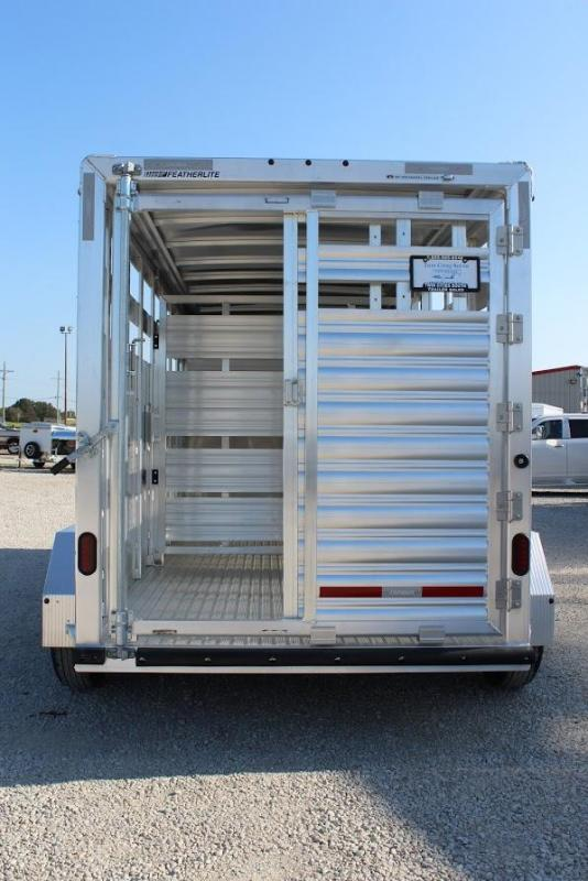 2020 Featherlite 16' Stock Livestock Trailer