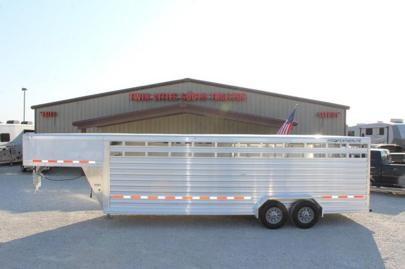 2021 Featherlite 24' Stock Trailer