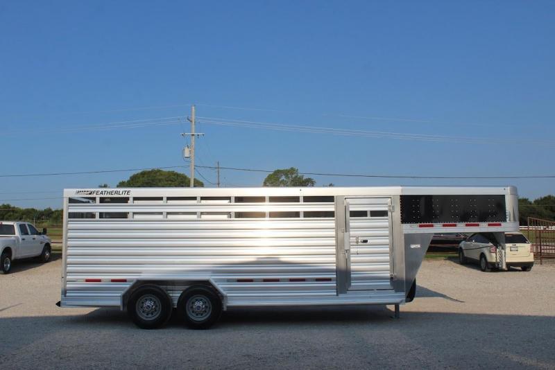 2022 Featherlite 20' stock trailer
