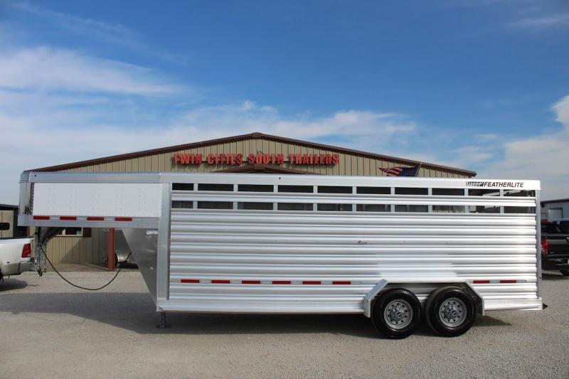 2021 Featherlite 20' Stock Trailer