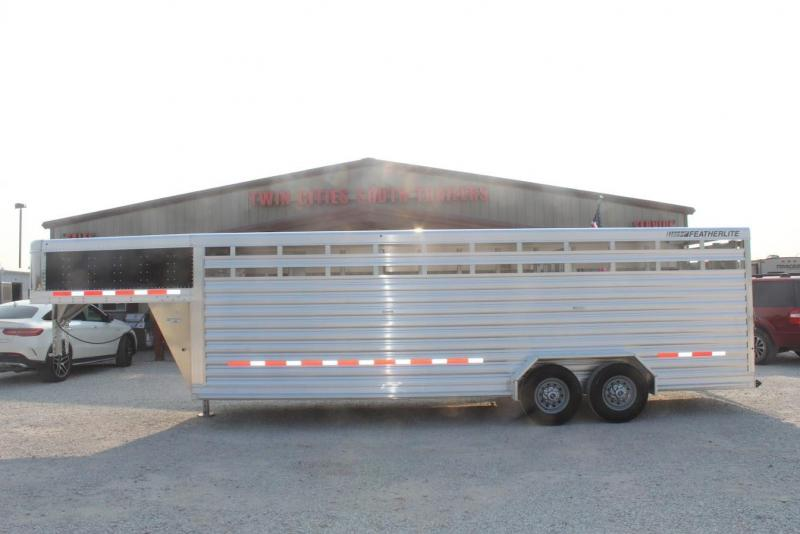 2022 Featherlite 24' stock trailer