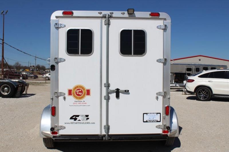 2018 4-Star 2 horse slant bumper pull