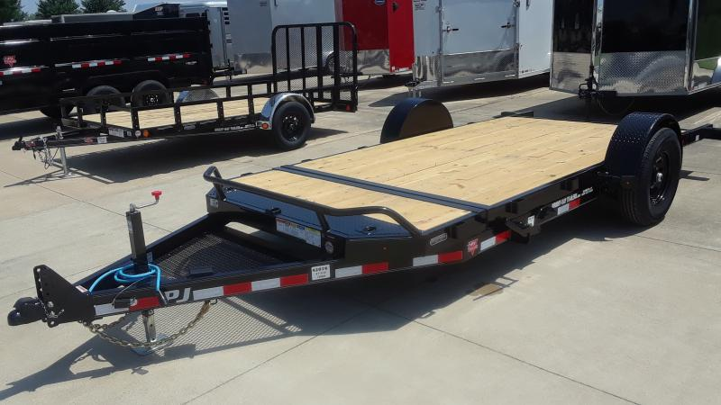 2021 PJ Trailers 16' HD TILT SINGLE AXLE Equipment Trailer