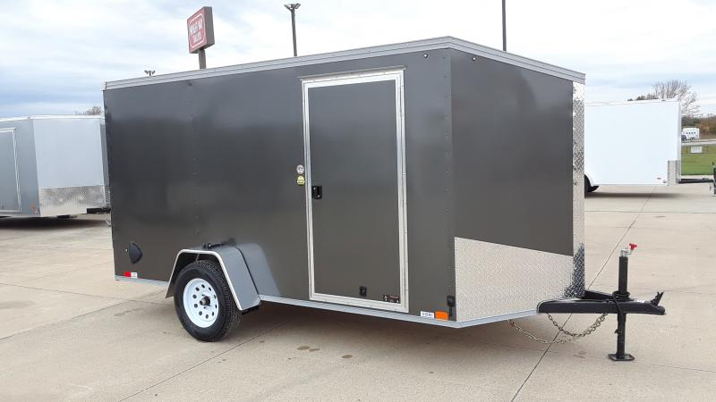2020 United Trailers 6X12 V NOSE CARGO Enclosed Cargo Trailer