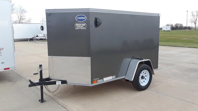 2021 United Trailers 5X8 V NOSE ENCL UTILITY Enclosed Cargo Trailer