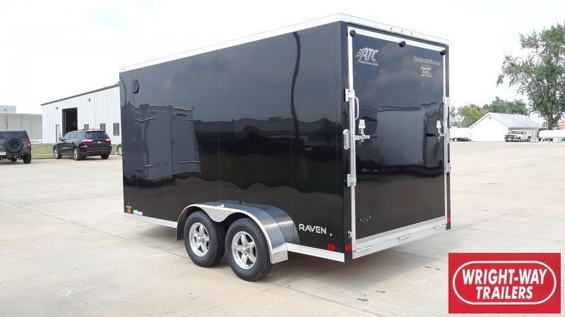2022 ATC 7X14 WEDGE NOSE CARGO Enclosed Cargo Trailer