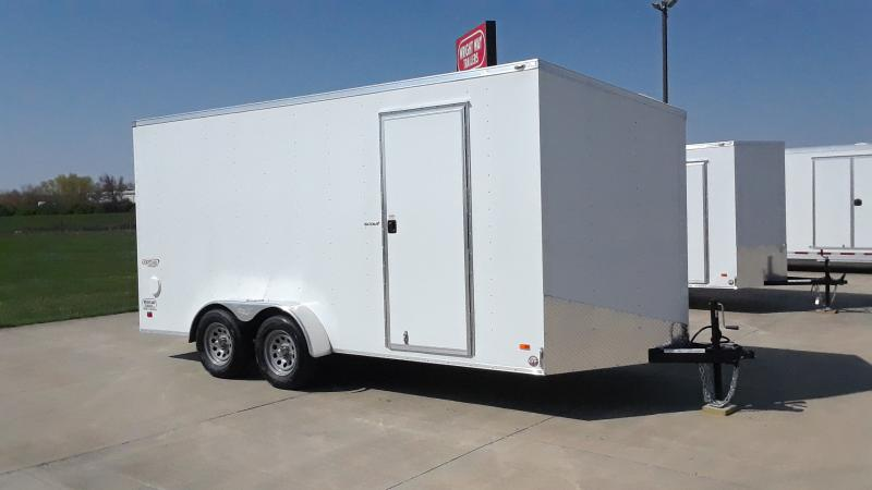 2021 Bravo Trailers 7X16 V NOSE CARGO Enclosed Cargo Trailer