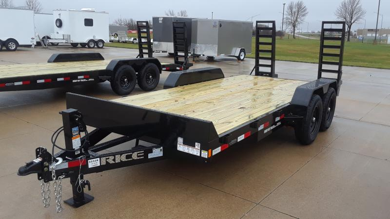 2021 Rice 18' EQUIPMENT TRAILER Equipment Trailer