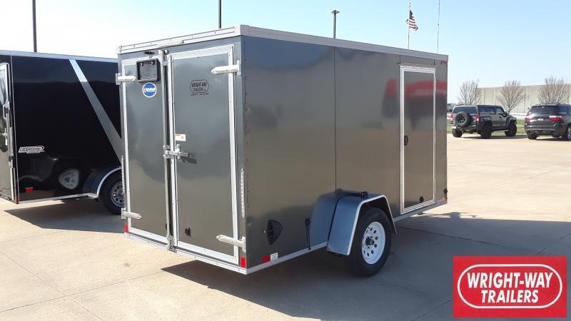 2021 United Trailers 6X12 SLANT NOSE CARGO Enclosed Cargo Trailer